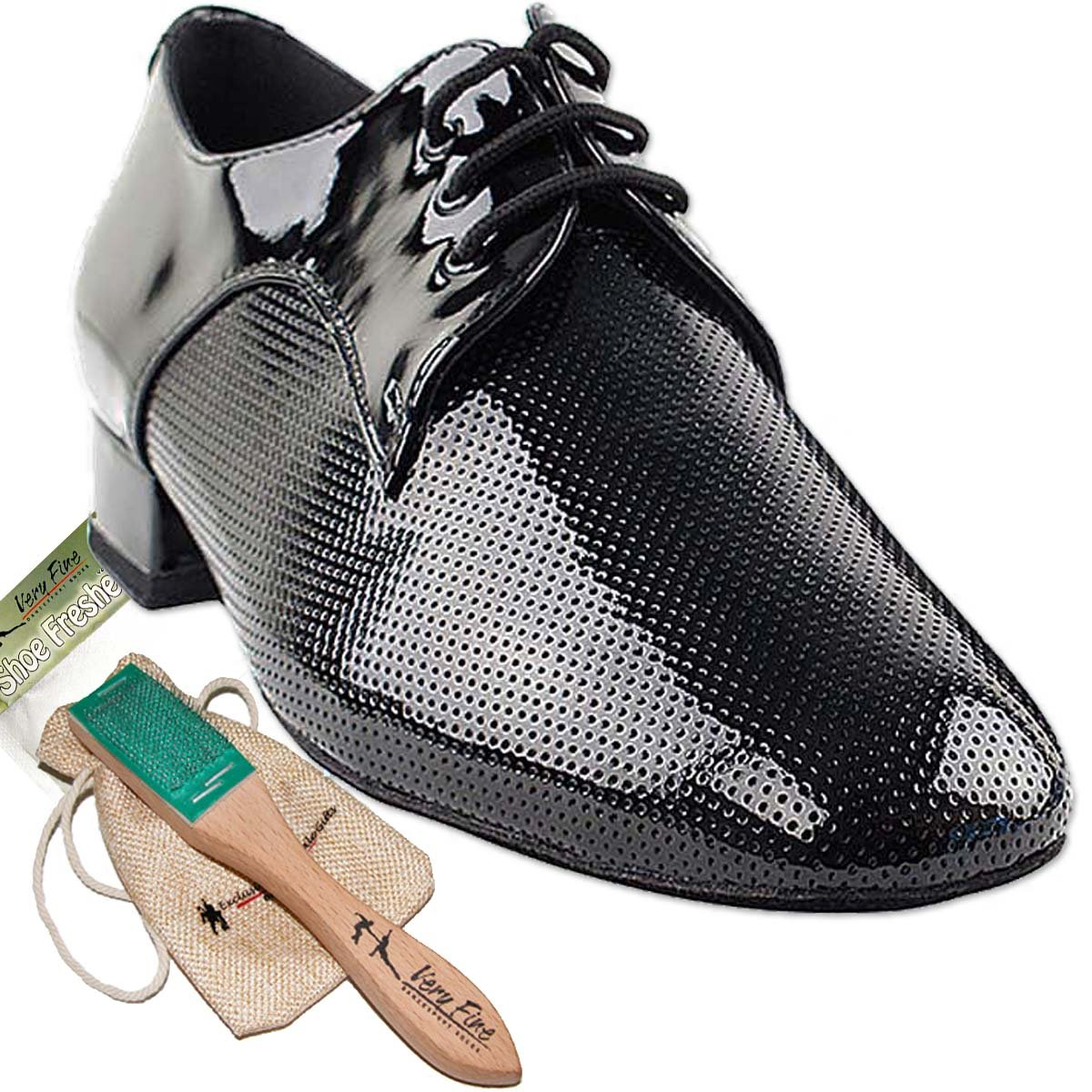 [Very Fine Dance Shoes] メンズ B076FP8RGR 11.5 D(M) US|ブラックパテント ブラックパテント 11.5 D(M) US