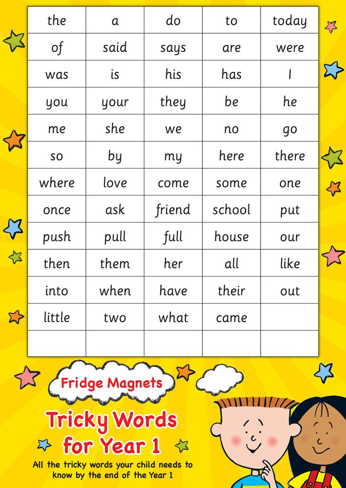 Image result for Year 1 tricky words