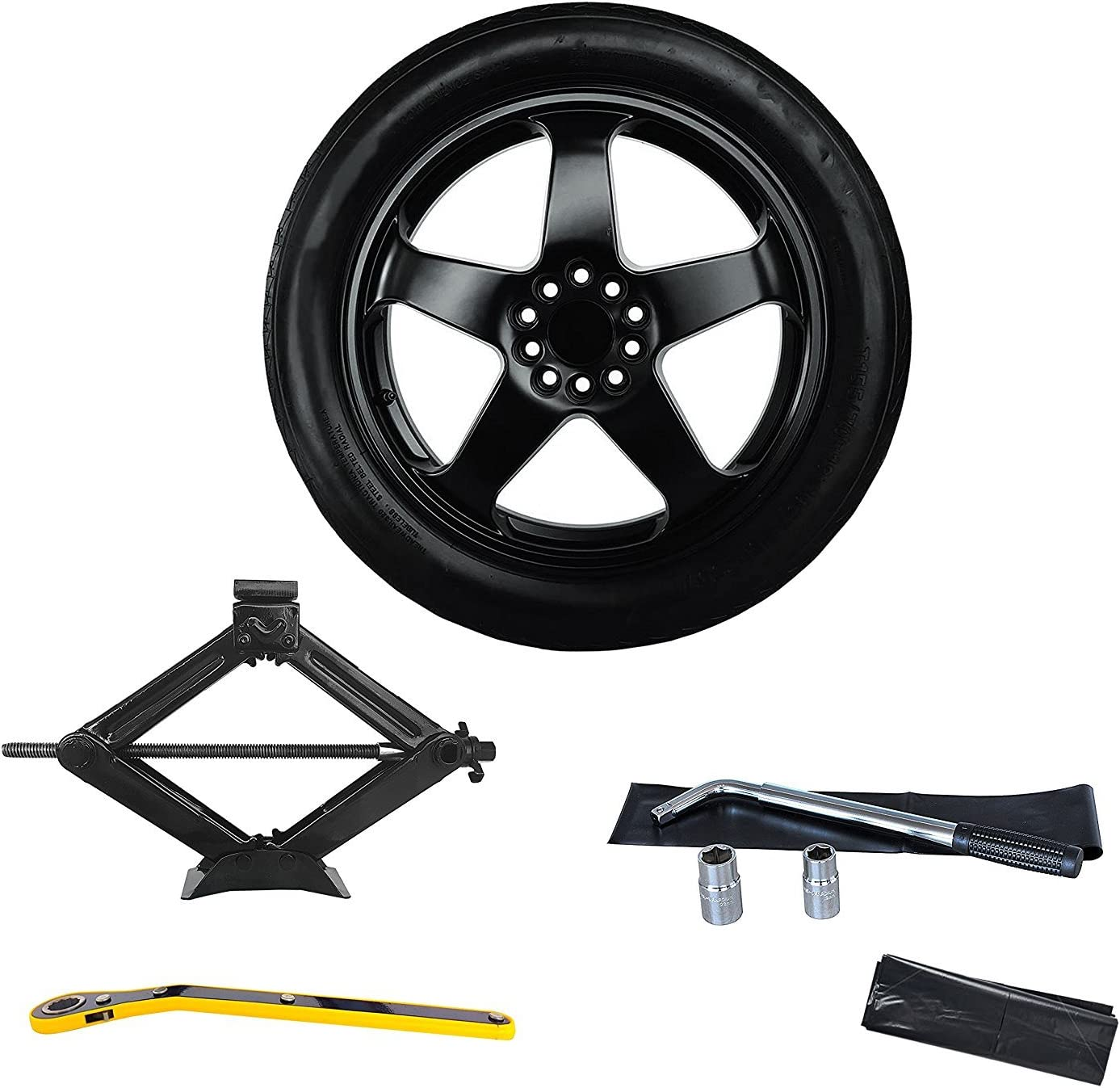 SPARE TIRE  WITH JACK KIT FITS 2013 2014 2015 2016-2020 CADILLAC ATS 18 INCH