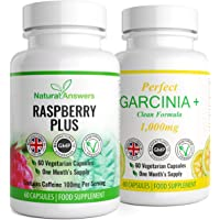 Garcinia Cambogia 1000mg Per Serving 60 Capsules + Raspberry Ketone 500mg 60 Capsules - Premium Quality - Fat Metabolism, Weight Management, Fat Burner, Natural Ingredients, UK Manufactured.