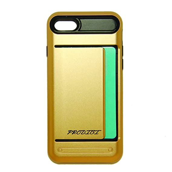 more photos 26296 32e17 Amazon.com: Apple iPhone 7 Case - GOLD - Hybrid, ID Card Holder ...
