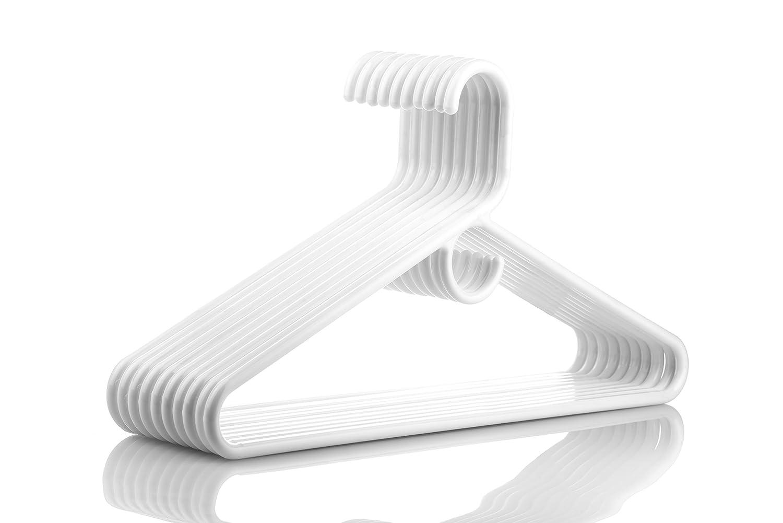36pk Neaties USA Made Heavy Duty White Plastic Hangers