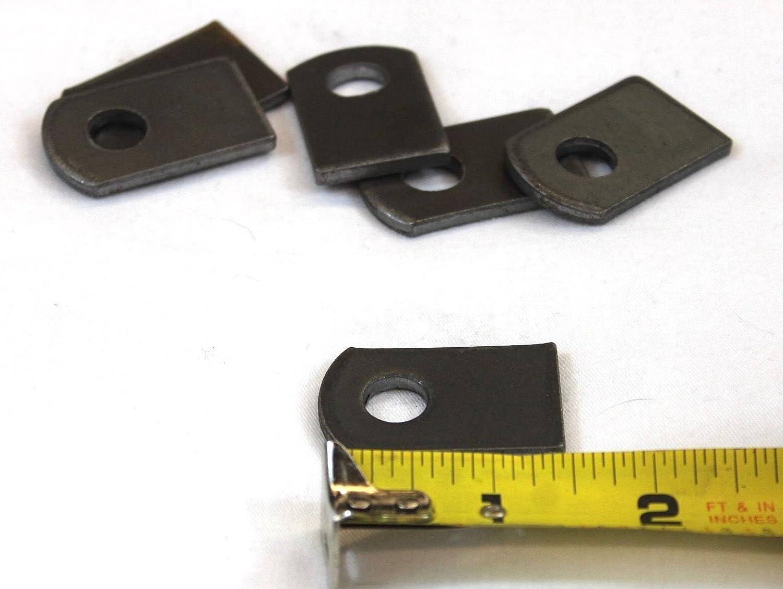 """Weld On  Steel Flat Tab Brackets 1/"""" x 1-1//2/"""" x 1//8/""""  thick,3//8 hole50 PCS"""