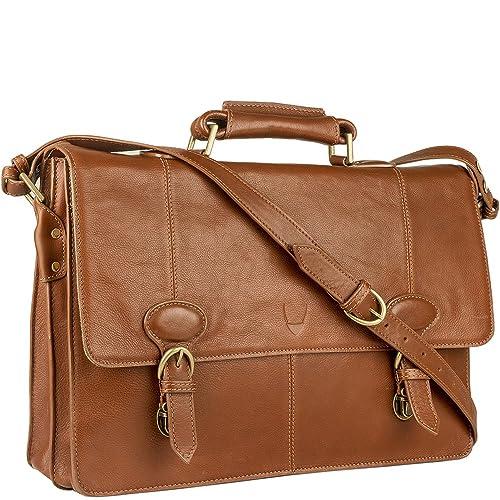 507cf69192e Hidesign Parker 03 Modern Briefcase Bag - Leather Bag - Laptop Bag -  Messenger Bag - For Men - Travel Bag - Casual Travel - For Work - With  Fixed ...