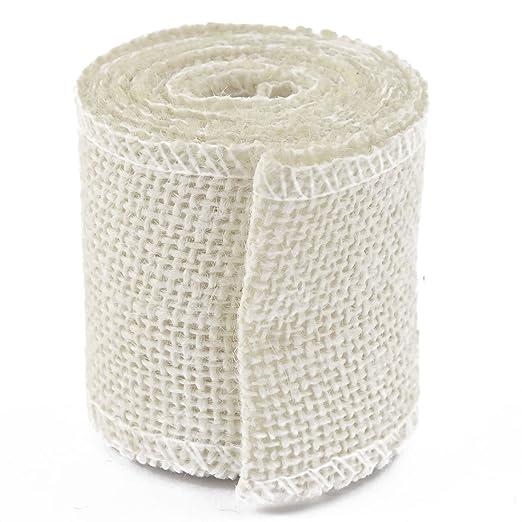 Amazon.com: eDealMax Correa de la boda de Yute cuerda cuerda de la secuencia del paquete de la Correa de Artes Artesanía arpillera Rollo de Cinta 2.2 yarda: ...