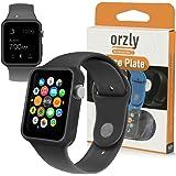 Orzly® - FlexiCase per APPLE WATCH (42mm) - Custodia Protettiva in Gel di Silicone (NERA) - Progettata e costruita da Orzly® specificatamente per Apple Watch da 42mm (Si adatta a tutti i modelli : Watch Sport / Watch Basic / Watch Edition)