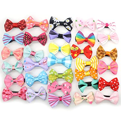 10Pcs Ribbon Pinwheel Boutique Hair Bows Clips For Baby Girls Teens Toddlers Kids Children Random Color