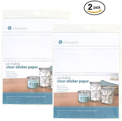 silhouette printable clear sticker paper pack of 2
