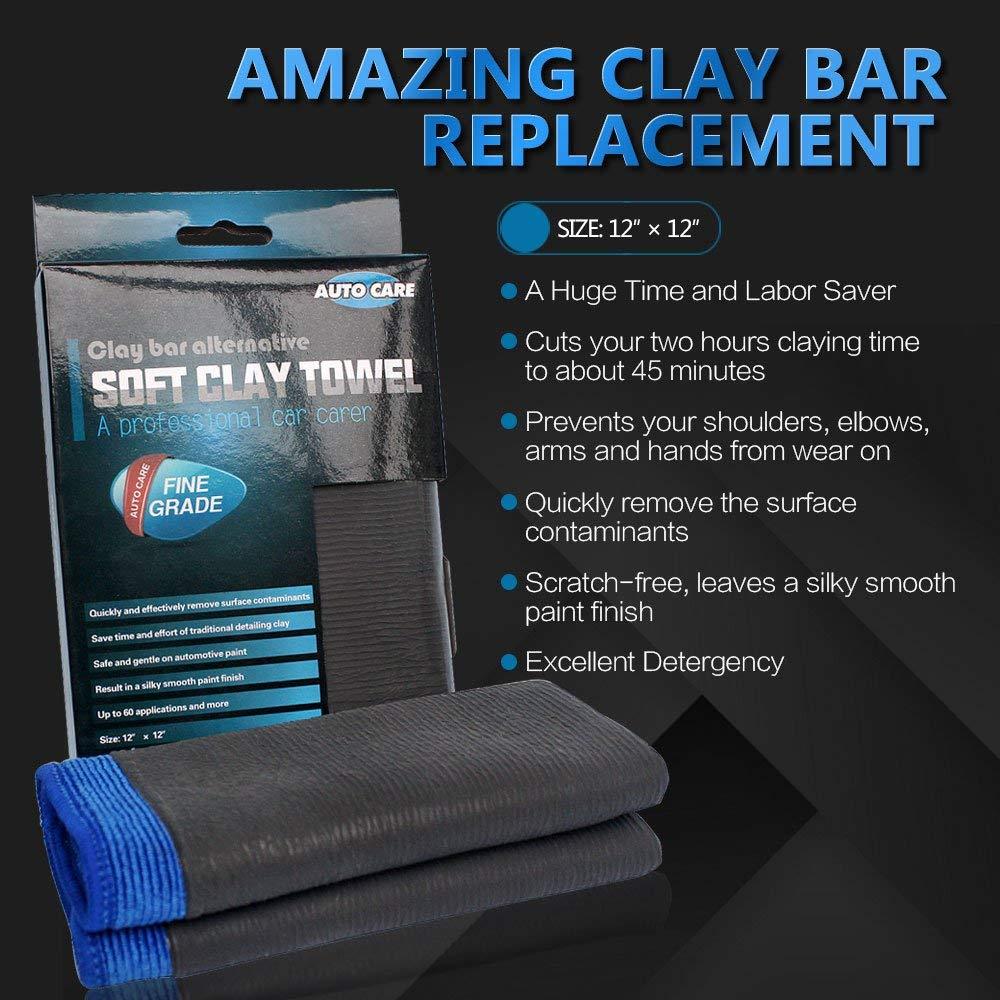 Clay Bar Towel, AutoCare Fine Grade Microfiber Clay Towel Automotive  Detailing Towel Clay Bar Alternative for Car Detailing, Creative Gift-Blue,  1
