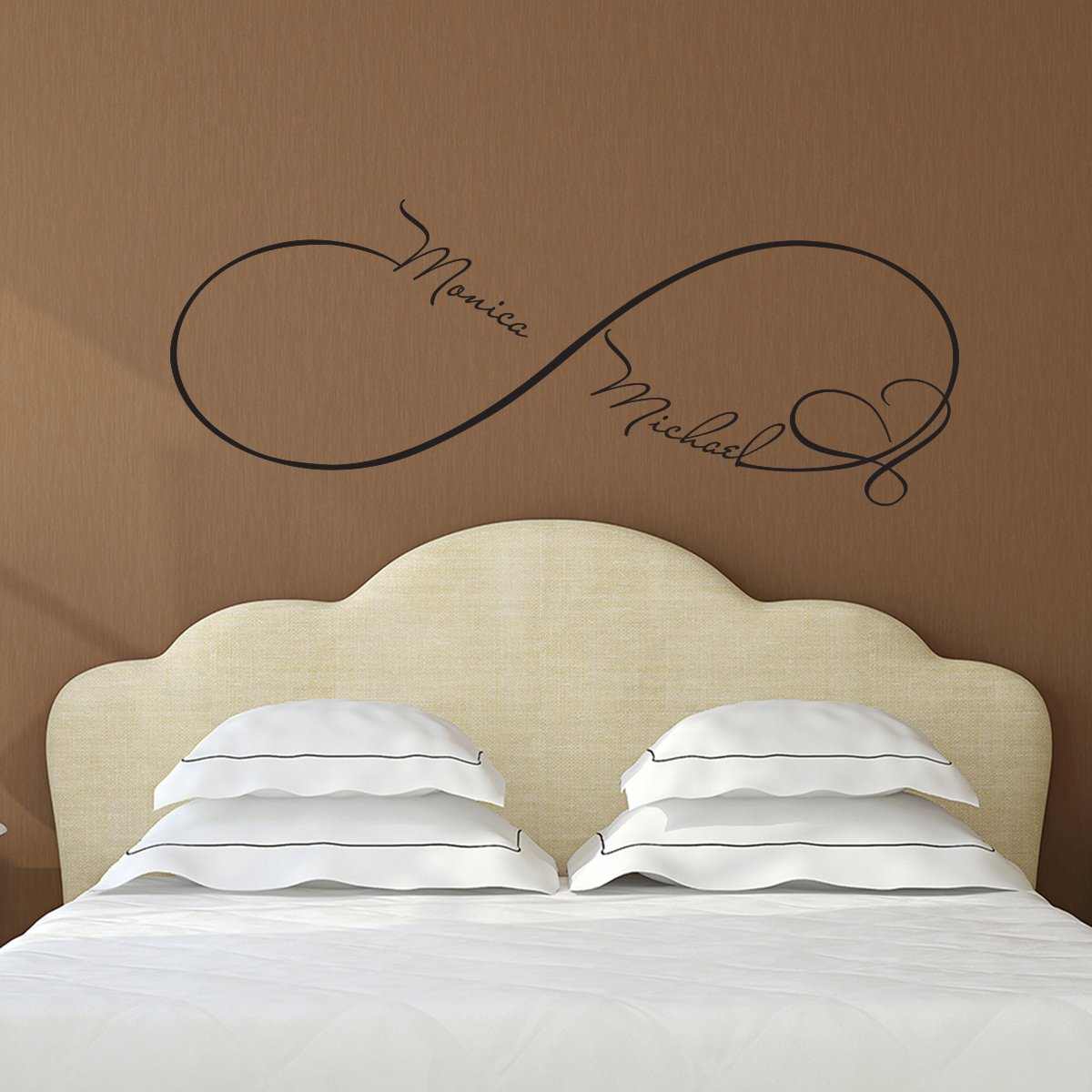 Custom Wall Decals Infinity Sign Heart Symbol Decal Family Name Sticker  Names Vinyl Decal Bedroom Home Decor Personilized Wedding Gift For Couples  FD49 ... Part 69