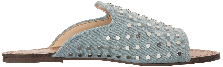 Jessica Simpson Frauen Kloe Offener Zeh Leger Leder Hausschuhe Vintage Blau Blau Vintage d22129
