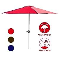 LOKATSE HOME Table Outdoor Market 9ft Patio Umbrella
