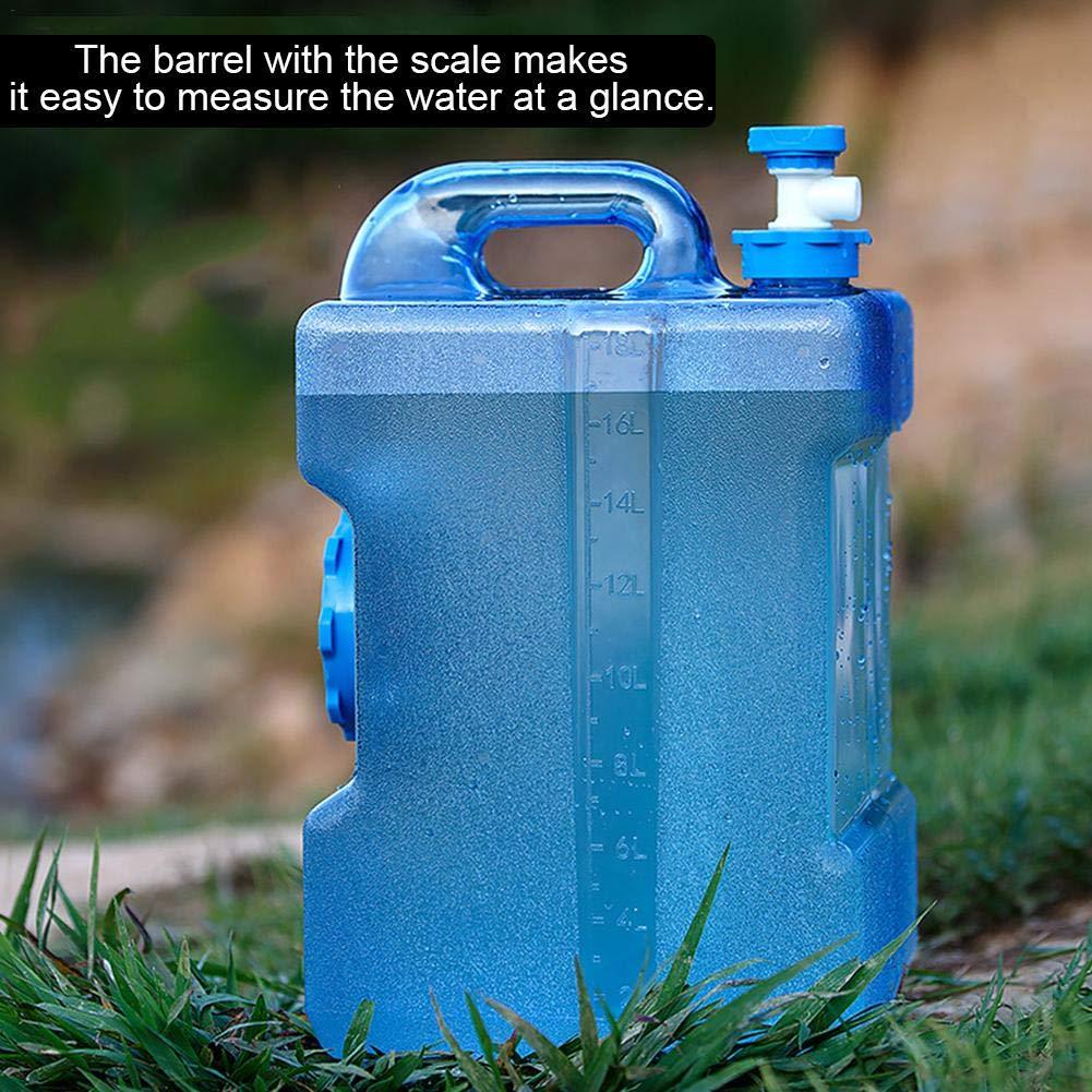 Globalqi 12L//19L Al Aire Libre Que Bebe el Compartimiento Puro del Agua del Cubo de Almacenamiento del Agua del Tanque de Almacenamiento del Agua del Compartimiento del Agua