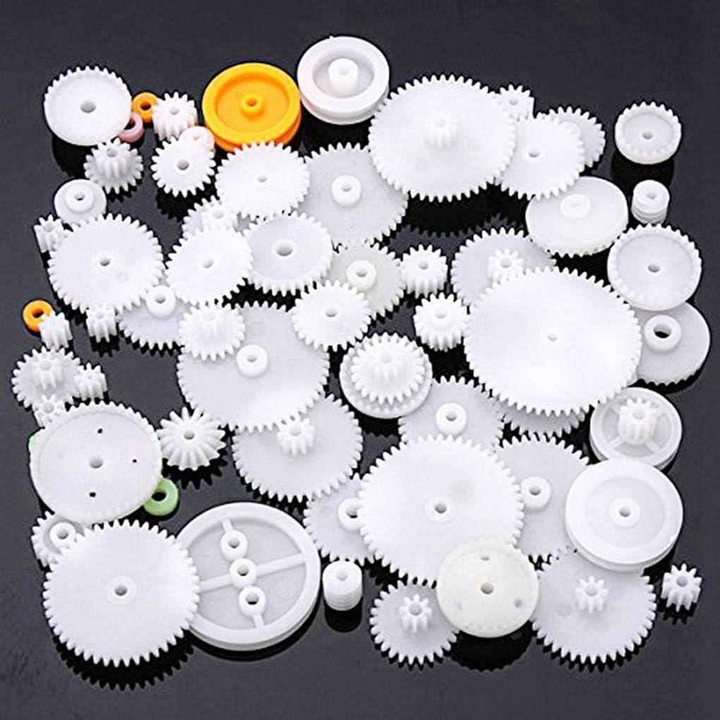 Sunlera Plastique Roulement PIGNONS Divers Types de Vitesse Ensemble Jouet Accessoires Voiture Motor/éducteur Bricolage Worm Axle Ceinture Bushings