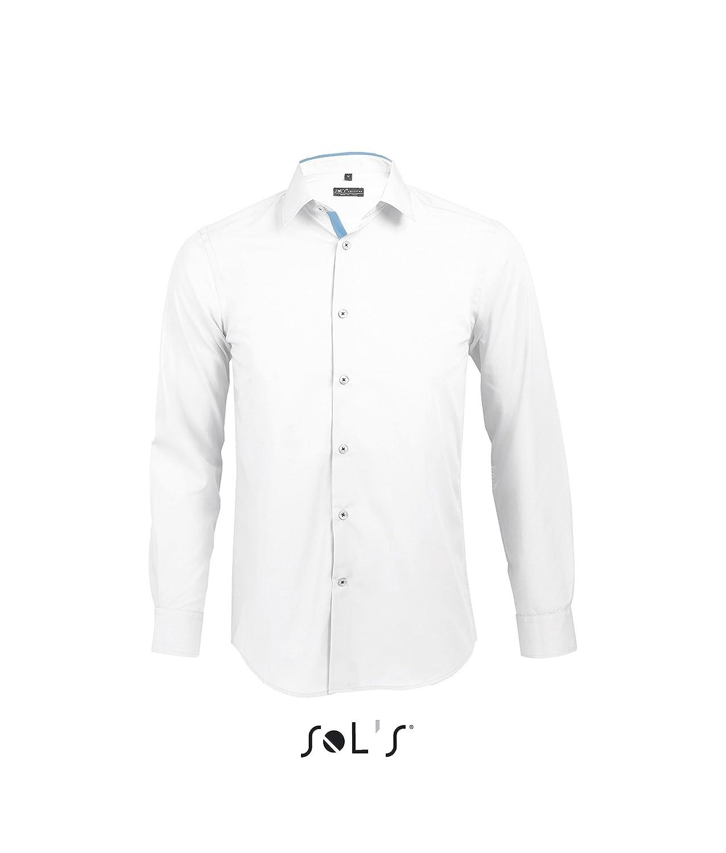 Broker - Camisa Ajustada Hombre Manga Larga Gris Titanio/Negro, T 3XL amazon negro
