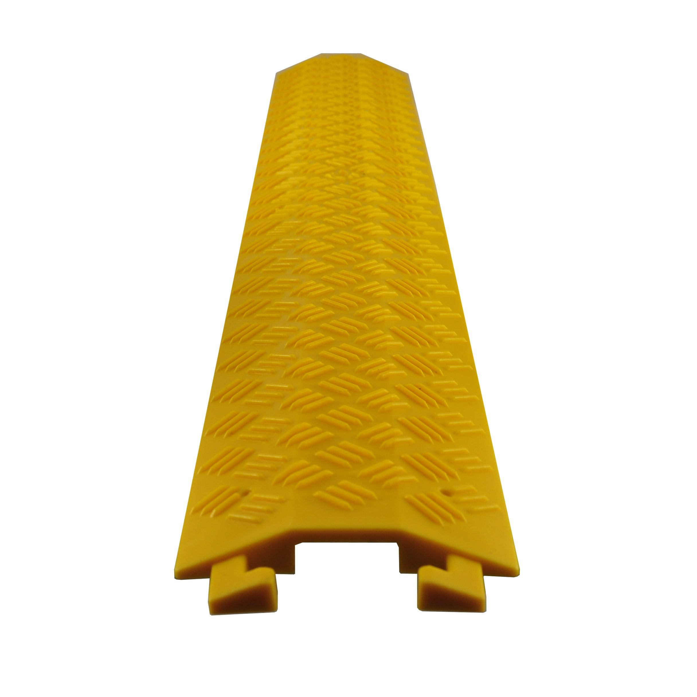 Durable Cable Ramp Protective Cover - 2,000 lbs Max Heavy Duty Drop Over Hose and Cable Track Protector, Cable Concealer for Outdoor and Indoor Use - Pyle PCBLCO19 (Renewed)