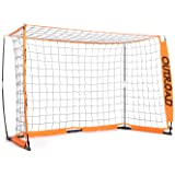 Outroad Portable 6x4 ft 12x6 ft Soccer Goal for Backyard - Practice Bow Style Soccer Net, Metal Basic Soccer Net for Practice, Goal Post for Soccer w/Carry Bag