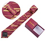 Besmon Striped Tie For Cosplay Magic