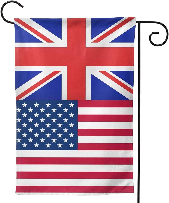 ainidamiss American British Flag Novelty Sunshine Outdoor Yard Decoration Double Sided Garden Flag 12.5 x 18 Inch