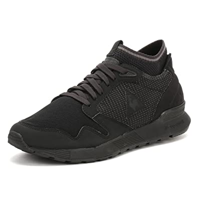 c1a8510e18b3 Le Coq Sportif Mens Triple Black Omicron Trainers  Amazon.co.uk  Shoes    Bags