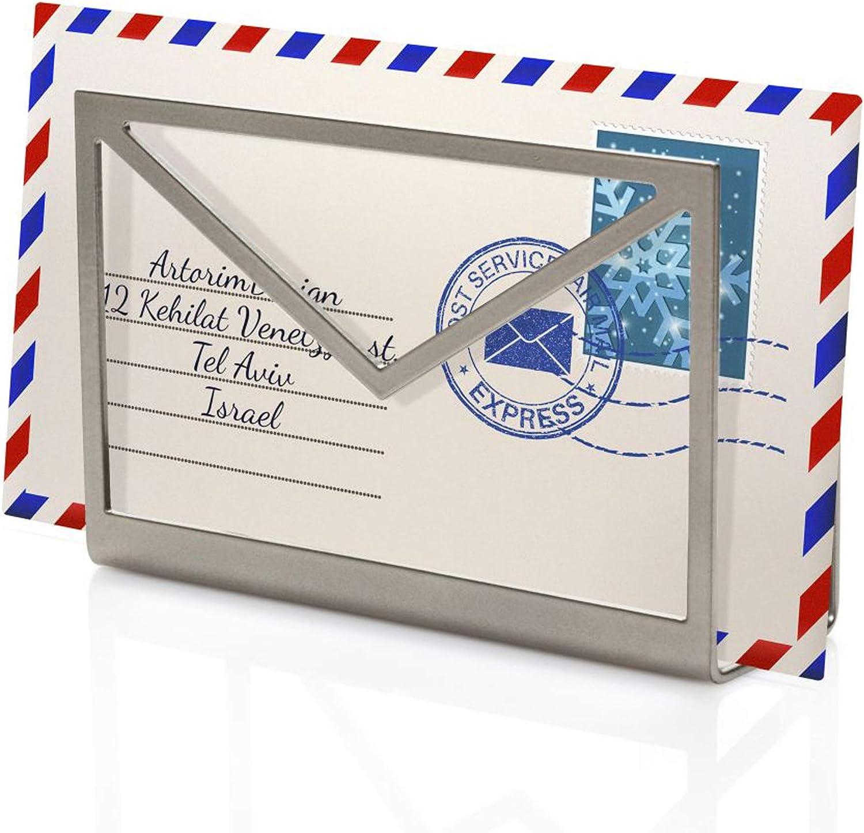 Artori Design | Inbox | Soporte para cartas metálico color plateado | Organizador de cartas y correo | Bandeja para cartas con forma de sobre | Regalo de oficina: Ori Niv: Amazon.es: Juguetes y juegos