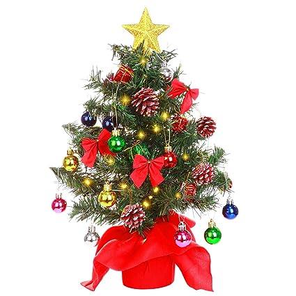 YUNLIGHTS Tabletop Christmas Tree, 20'' Artificial Christmas Tree Battery  Operated Lighted for Christmas - Amazon.com: YUNLIGHTS Tabletop Christmas Tree, 20'' Artificial