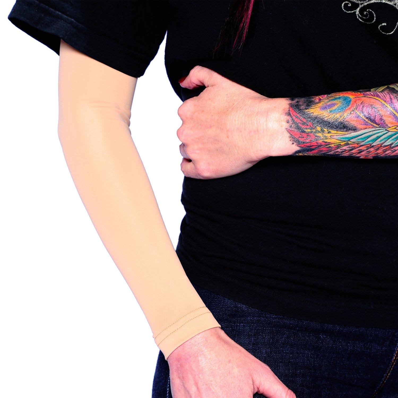 Tat2X Men's Ink Armor Full Arm Tattoo Cover Up Sleeve (single skin tone arm sleeve) TAT2X014