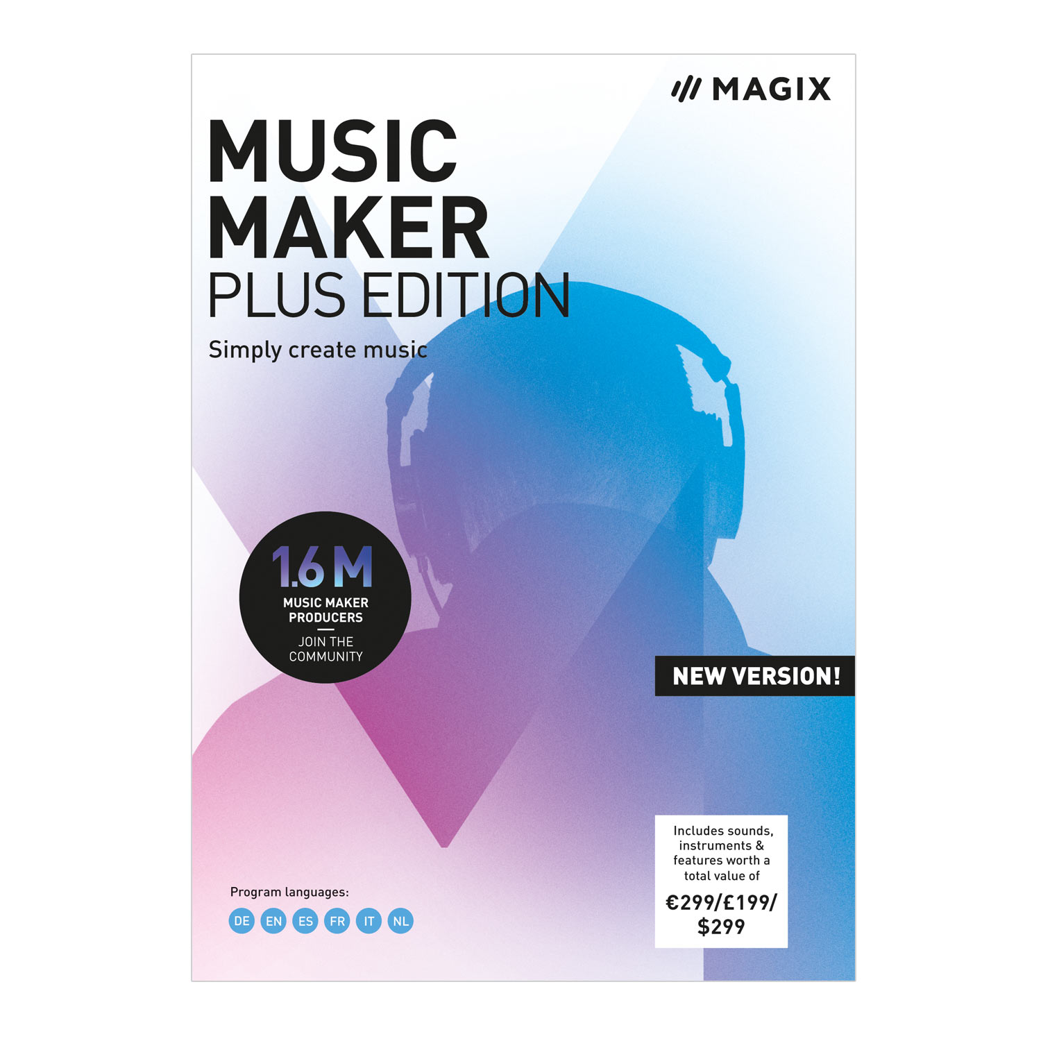 MAGIX Music Maker - 2019 Plus Edition - Produce, record and mix music [Download] by MAGIX