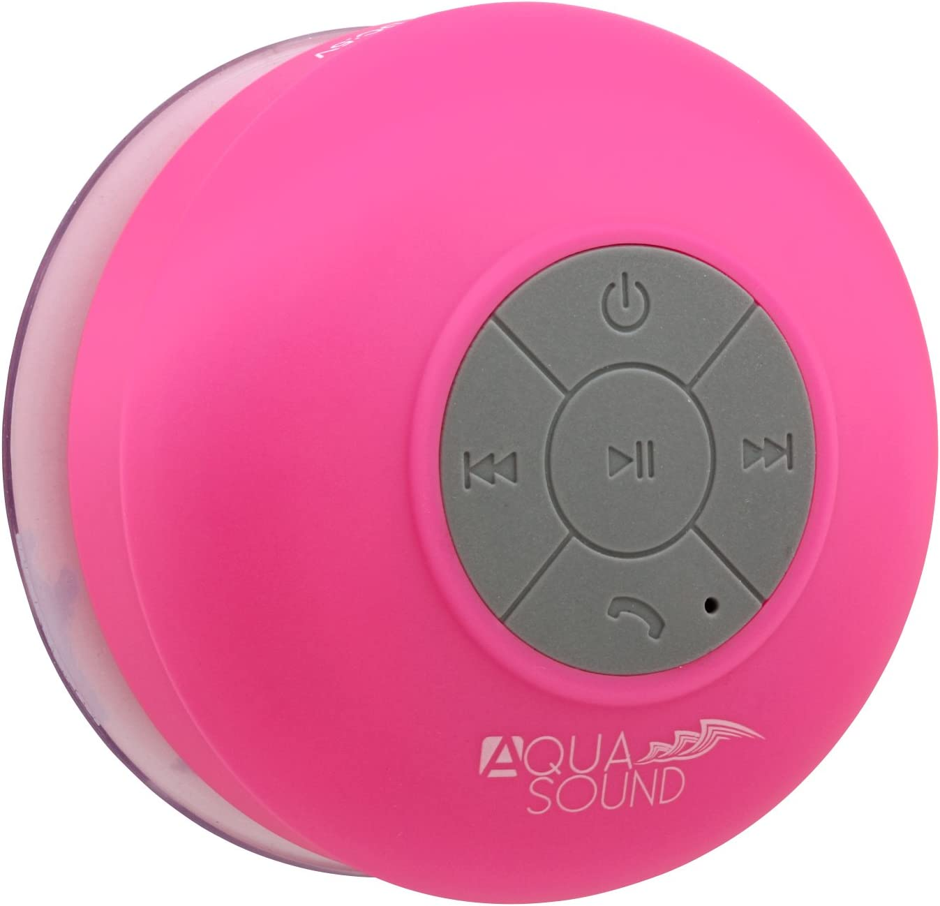 Aduro AquaSound WSP10 Shower Speaker, Portable Waterproof Wireless  Bluetooth Speaker (Pink)