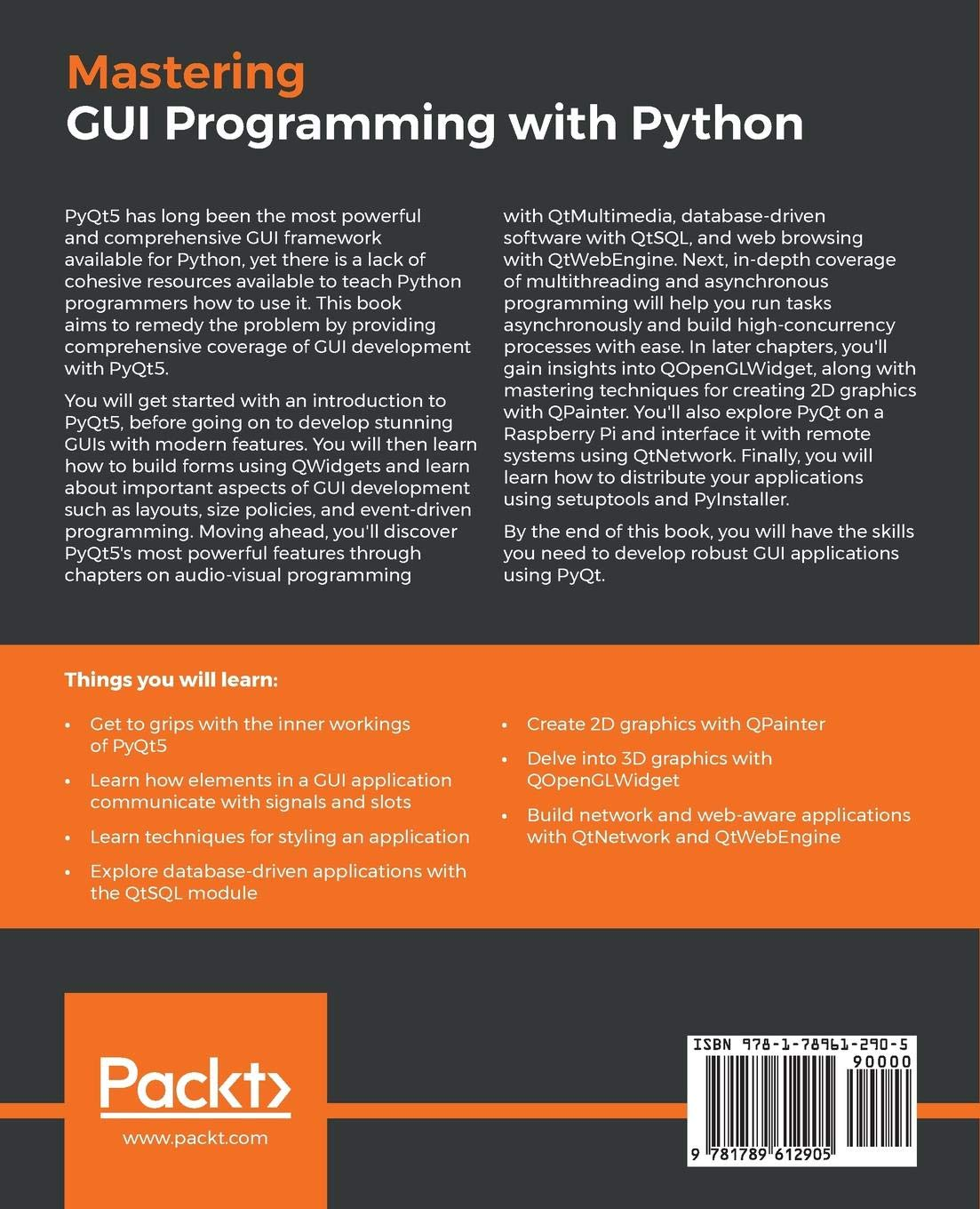 Amazon com: Mastering GUI Programming with Python: Develop
