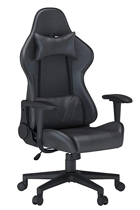 Truker Gaming Racing Chairs Executive Office Swivel Chair Ergonomic High-Back Adjustment Leather Computer Desk Chair with Headrest and Lumbar ...