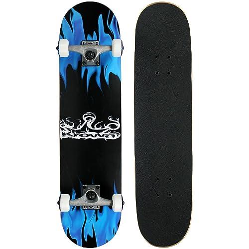Krown KRRC-27 Rookie Complete Skateboard,Blue Flame