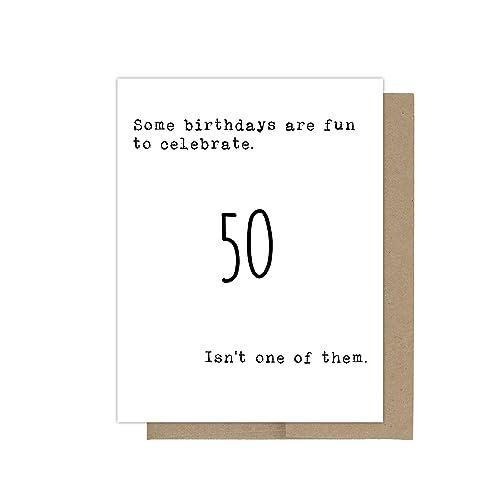 Amazon Com 50th Birthday Card Getting Old Birthday Card Birthday Card For Her Birthday Card For Him Sarcastic Birthday Card Birthday Greeting Card Handmade