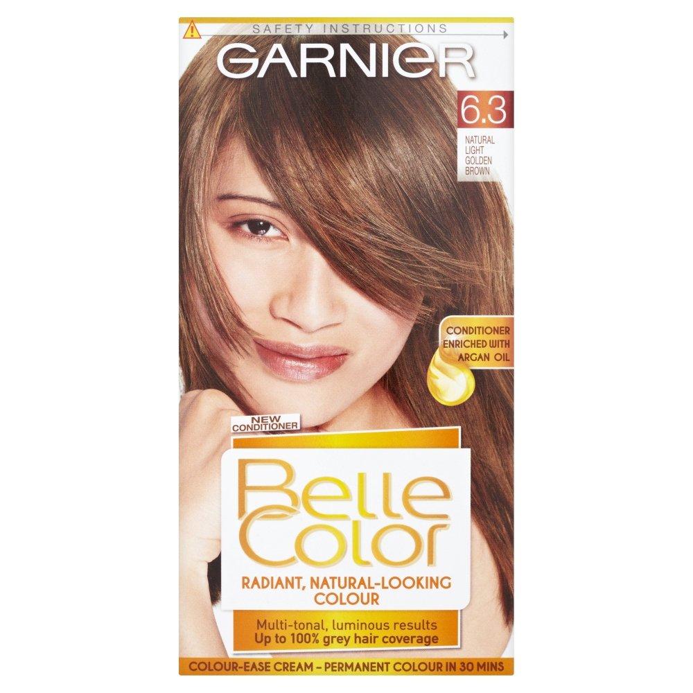 Garnier olia permanent hair colour golden brown 5 3 - Belle Color 6 3 Light Golden Brown Permanent Hair Dye Amazon Co Uk Beauty