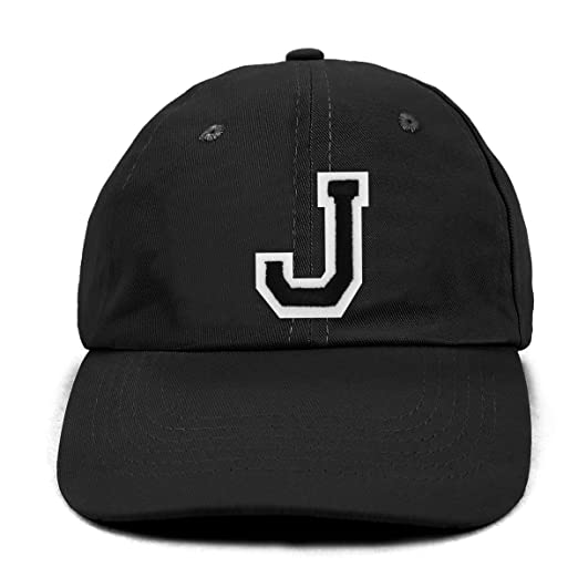 Image Unavailable. Image not available for. Color  Varsity Letter J Initial Traditional  Cotton Twill Embroidered Baseball Cap a8081028233a
