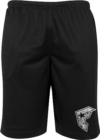Famous Stars and Straps Hombre Famous Logo Mesh Pantalones Cortos, hombre, Famous Logo Mesh Shorts, negro, medium