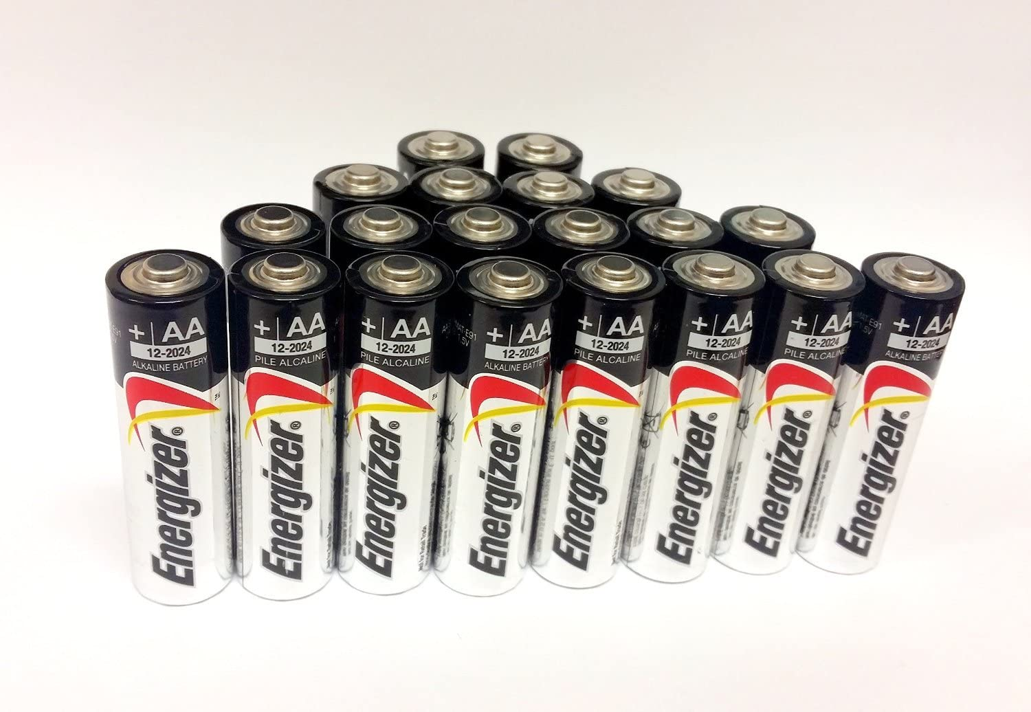 Expiration 12//2024 or later Energizer AA Max Alkaline E91 Batteries Made in USA 20 count