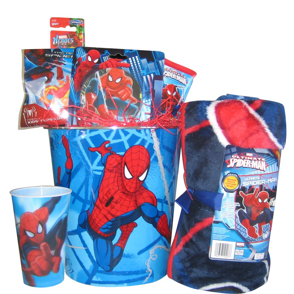 Amazon spiderman grooming gift basket for boys perfect amazon spiderman grooming gift basket for boys perfect christmas baskets for kids baby negle Images