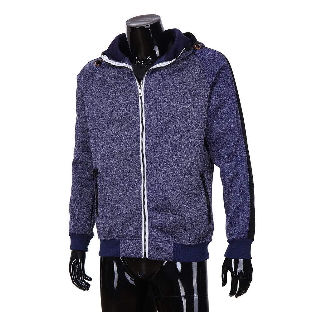 ♚Sudadera con Capucha para Hombre, Autumn Patchwork Cremallera Outwear Tops Blusa Chaqueta Absolute: Amazon.es: Ropa y accesorios