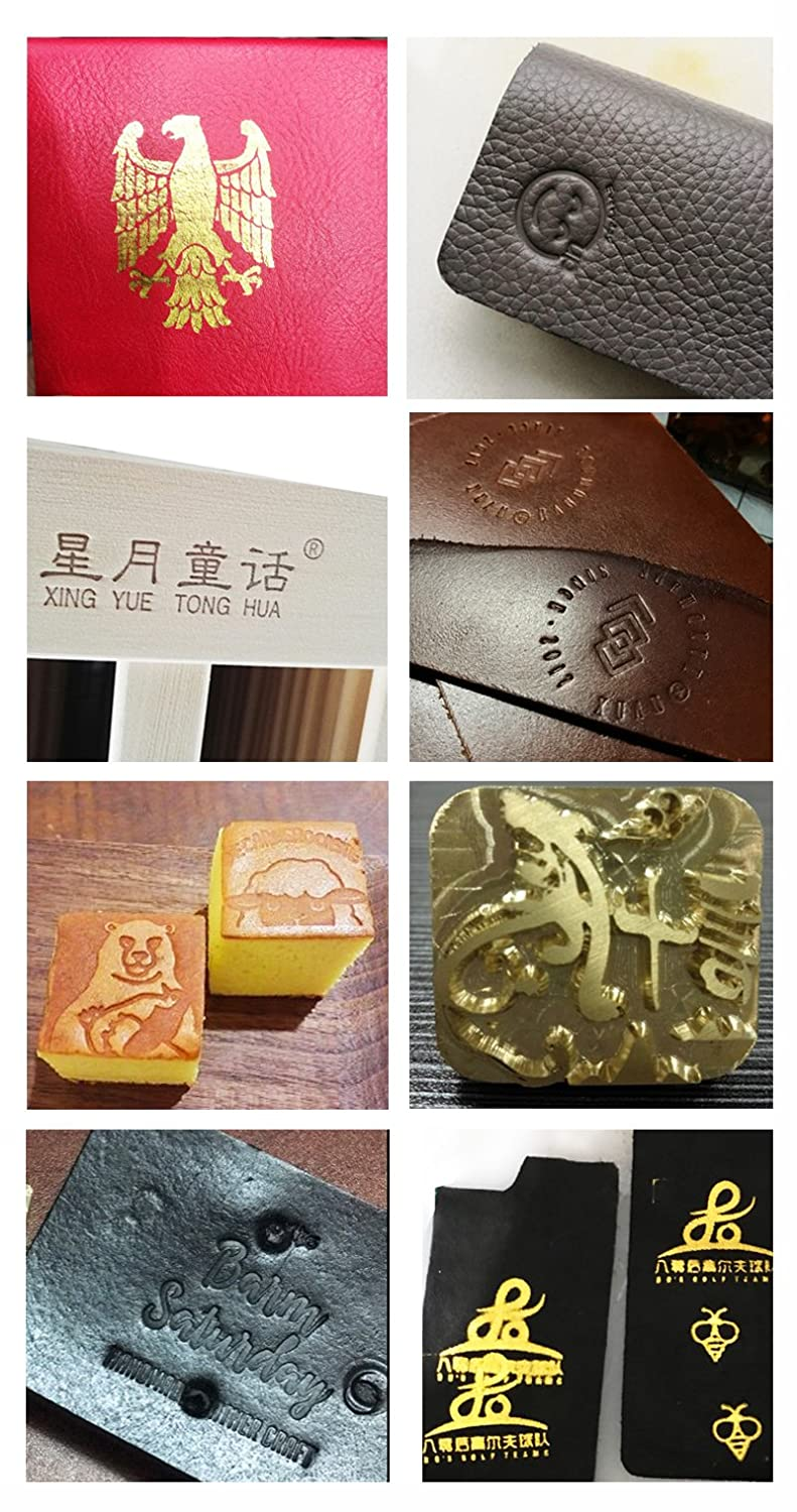 Hot Foil Stamping Machine Automatic Reeling 10 x 13 cm Tipper Stamper Bronzing Card Foil Logo Embossing 3.9 x 5.1 for for PVC Leather PU and Paper Stamping 110V 60Hz