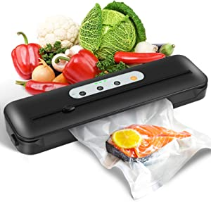 YISSVIC Vacuum Sealer Machine Automatic Food Sealer for Food Savers 2 Modes Vacuum Sealing Machine with Cutter and Led Indicator