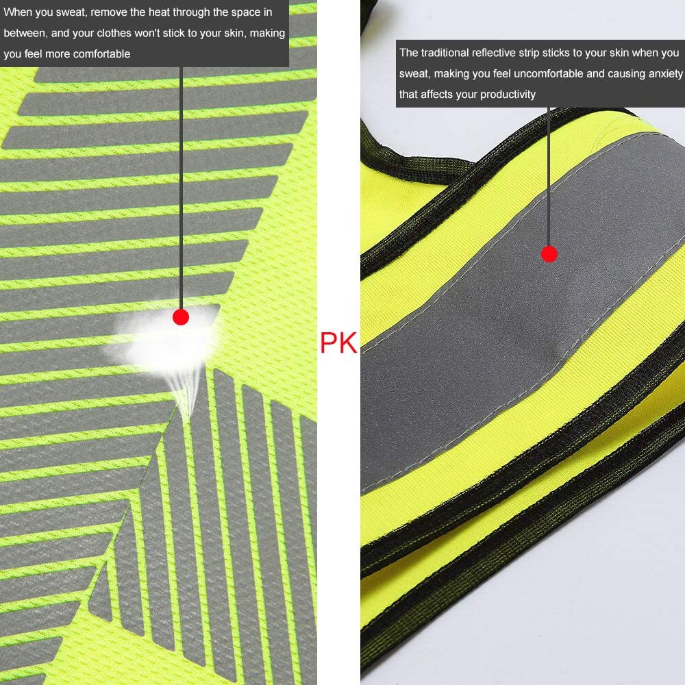Cooling Visibility Polo Shirt Safety Short Sleeve Security Exercise Tee Orange XXXL