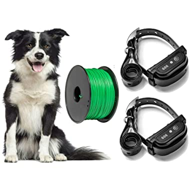 Earlyhights Underground Electric Outdoor Dog Containment Fence System,5 Acre Range 500 Ft In Ground Wire, Small, Medium, Or Large Dogs Over 5 lbs