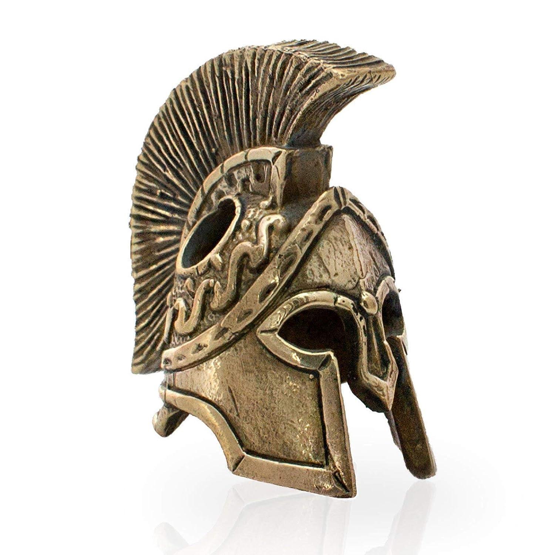 "Spartan Helmet Custom Paracord Keychain 4.5/"" EDC Lanyard with Handmade Bead"