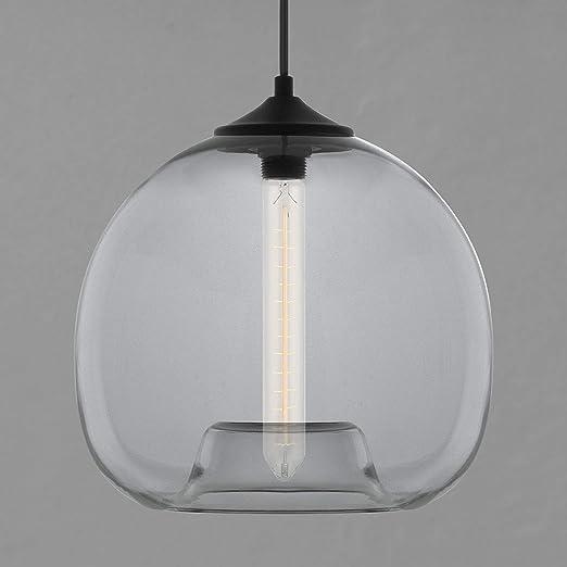 Amazon.com: Linea Uno Luz Lámpara de techo de vidrio ...