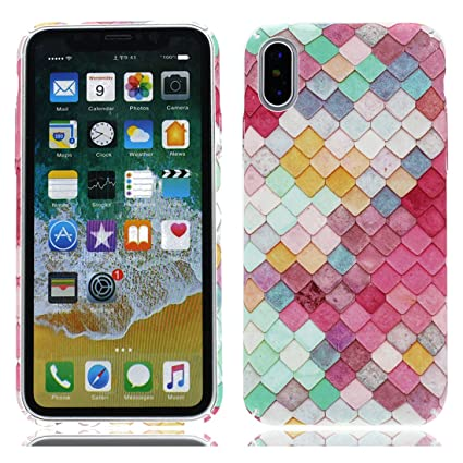 YuanYuZhongPhoneSky iPhone X Carcasa, iPhone X Funda, TPU Slim-Fit Ultra Fino Flexible