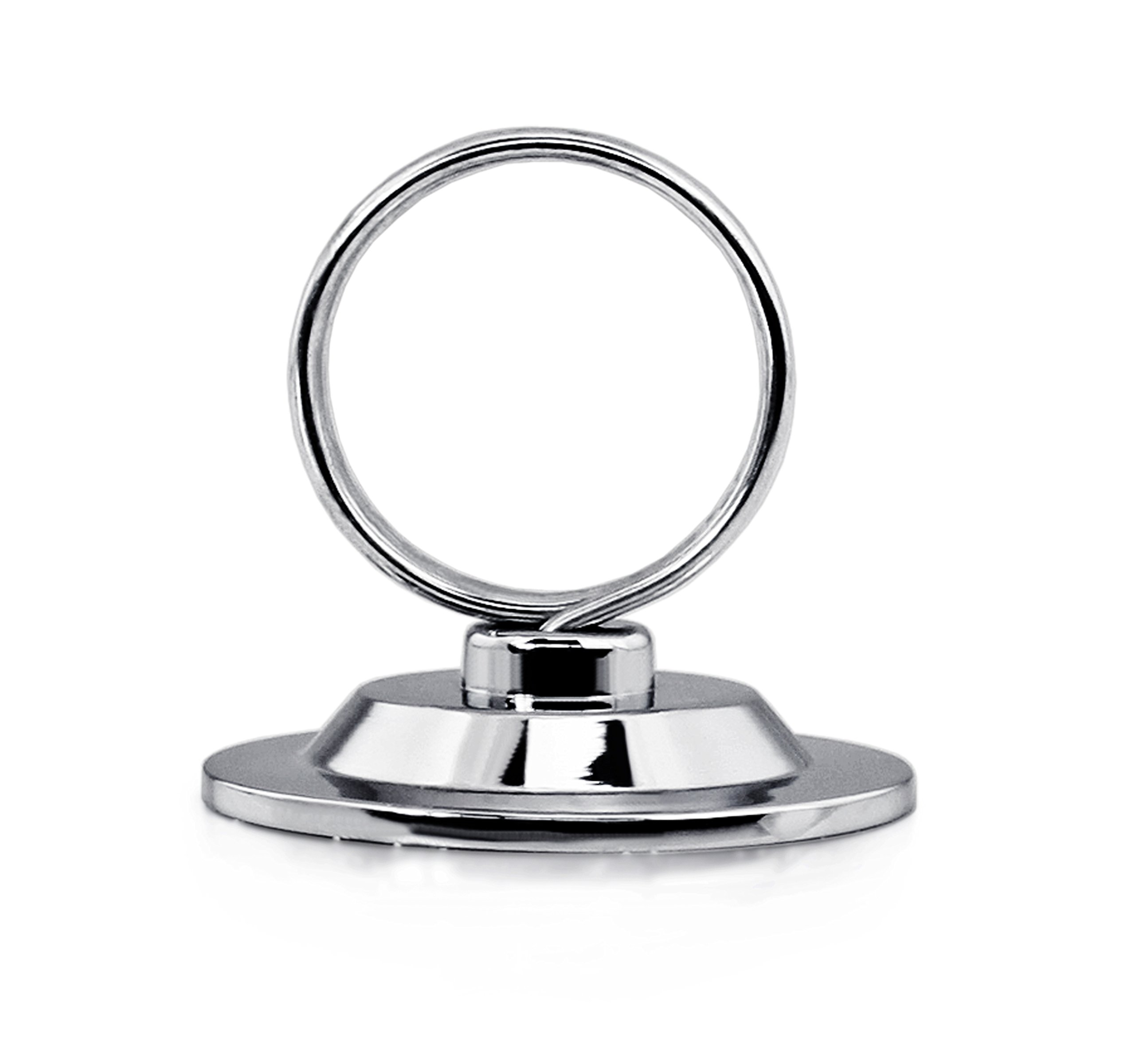 New Star 12 pcs Ring-Clip Place Card Holder Table Menu Holder Table Card Holder Table Number Holder Table Number Stand Banquet Table Place Card Holder Heavy Base New Star Foodservice 23398