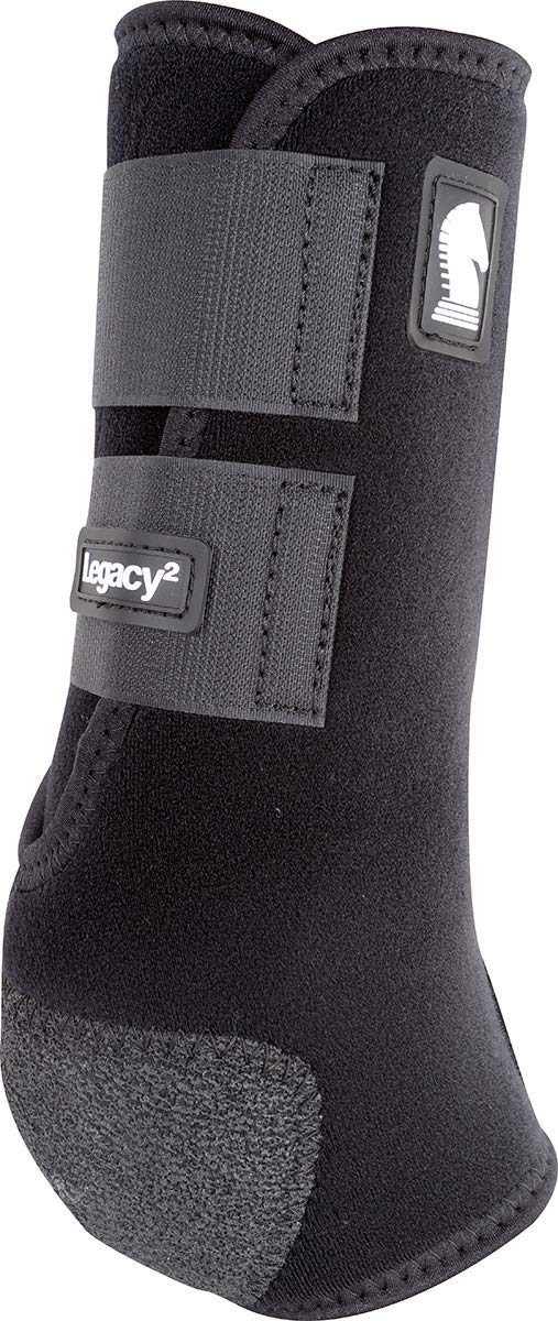 Classic Equine Legacy2 System Hind Boot (Solid), Black, Large