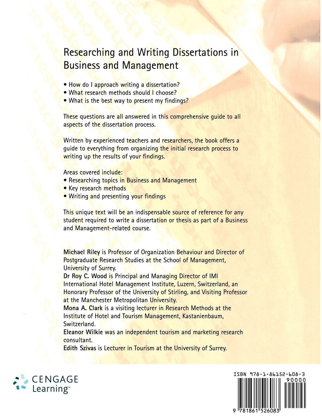 researching and writing dissertations in business and management researching and writing dissertations in business and management amazon co uk michael riley roy c wood mona clark eleanor wilkie edith szivas