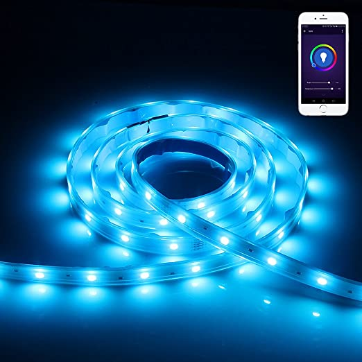 Wifi smart led strip light lineway led light strip compatible with wifi smart led strip light lineway led light strip compatible with alexa for ios android mozeypictures Images